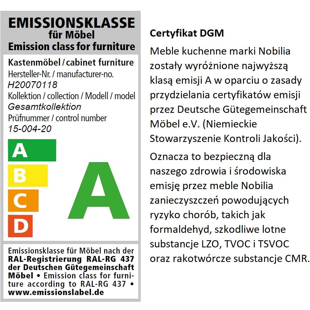 Klasa A emisji mebli kuchennych Nobilia