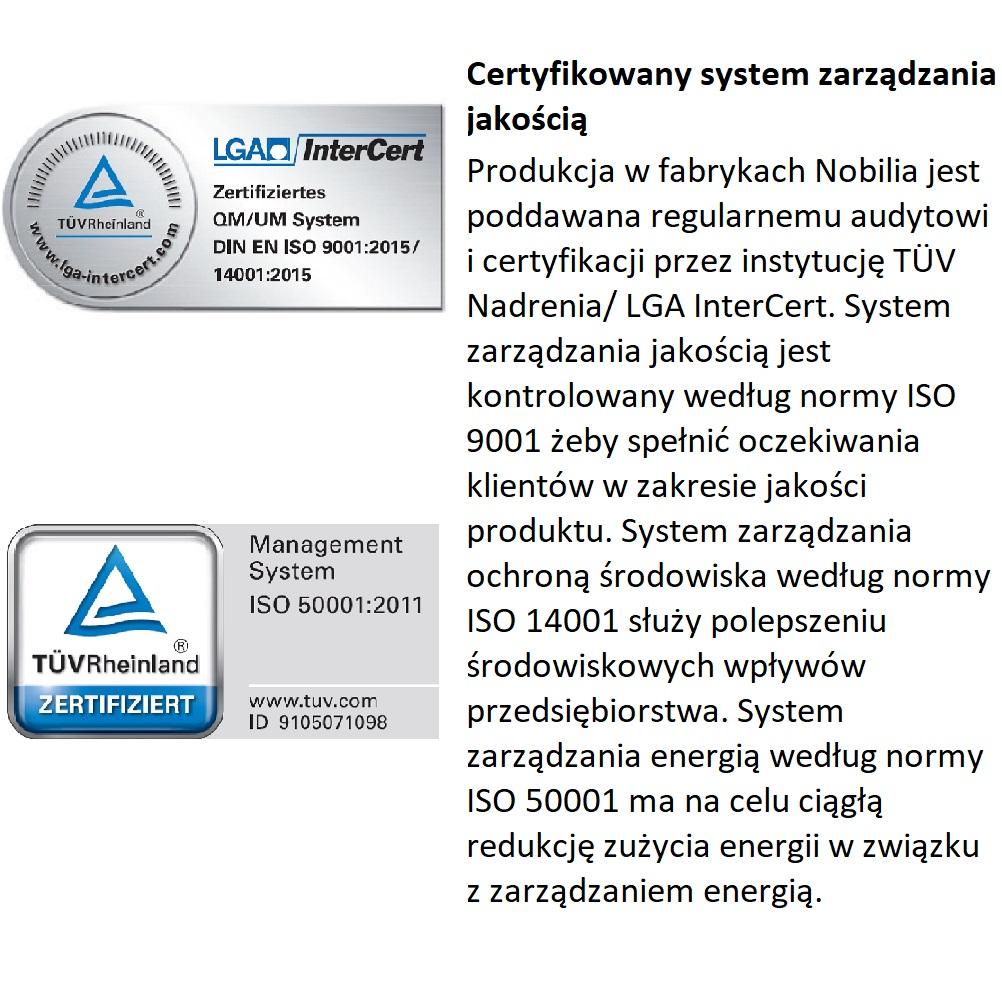 Certyfikaty iso dla Nobilia.