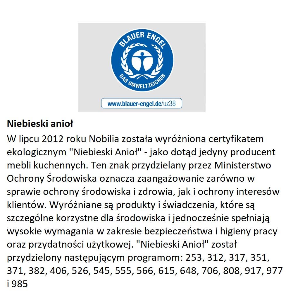 Certyfikat Niebieski Anioł dla Nobilia