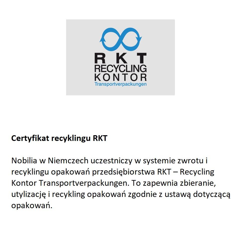 Certyfikat recyclingu Nobilia